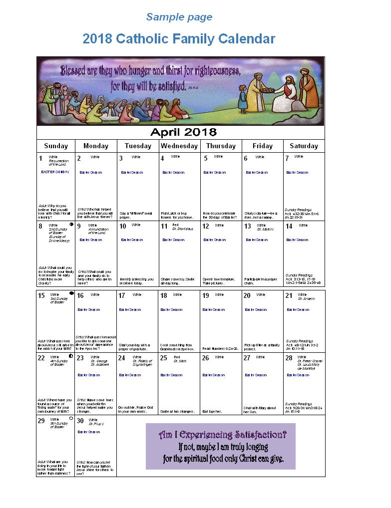Small Calendar Sample Jpeg Diocese Of Altoona Johnstown